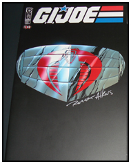 G.I. JOE #0 signed by Robert Atkins