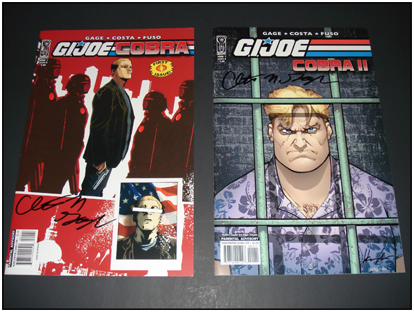 G.I. JOE: Cobra #1 and G.I. JOE: Cobra II #1 signed by Christos Gage