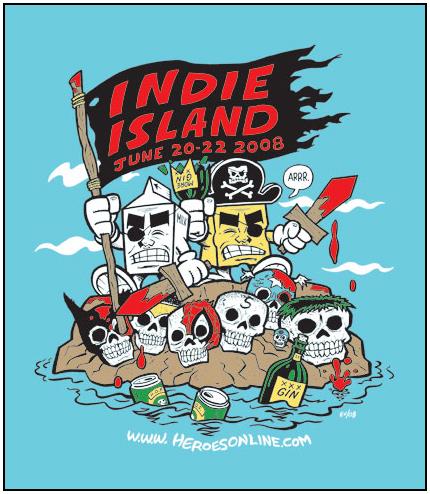 Indie Island HeroesCon shirt