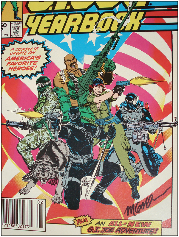 G.I. JOE Yearbook #2 signed by Michael Golden