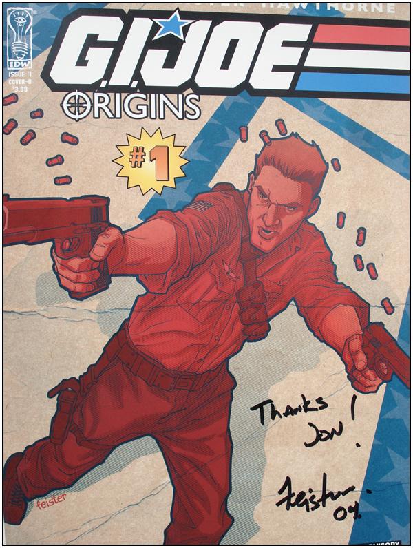 G.I. JOE: Origins #1 signed by Tom Feister