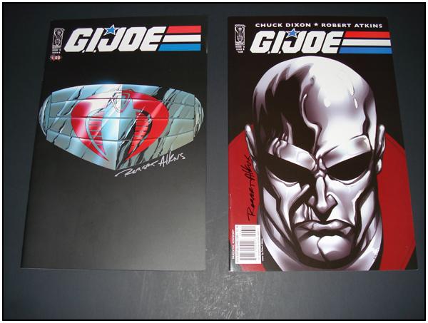 G.I. JOE (IDW) #0 & #6 signed by Robert Atkins