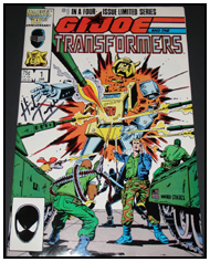 G.I. JOE and the Transformers #1 signed by Herb Trimpe